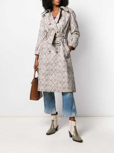 Picture of Alexa Chung   Snakeskin Print Trench Coat