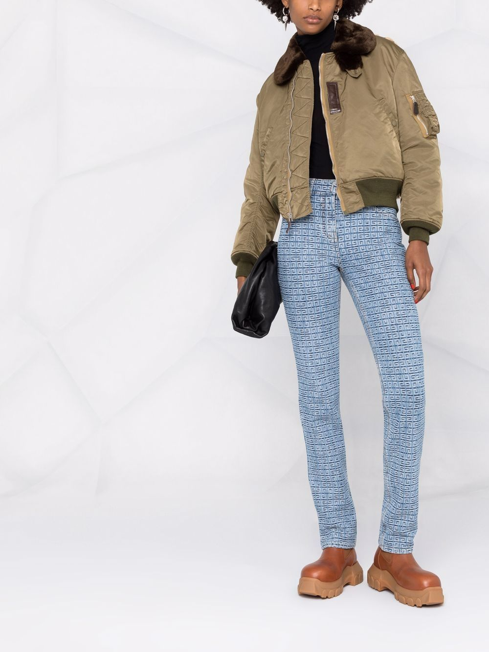 Picture of Junya Watanabe   Panelled Cropped Bomber Jacket