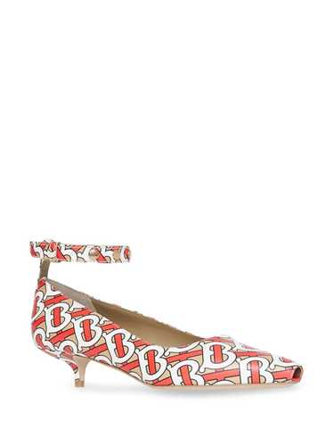 Picture of Burberry | Monogram Print Leather Pumps