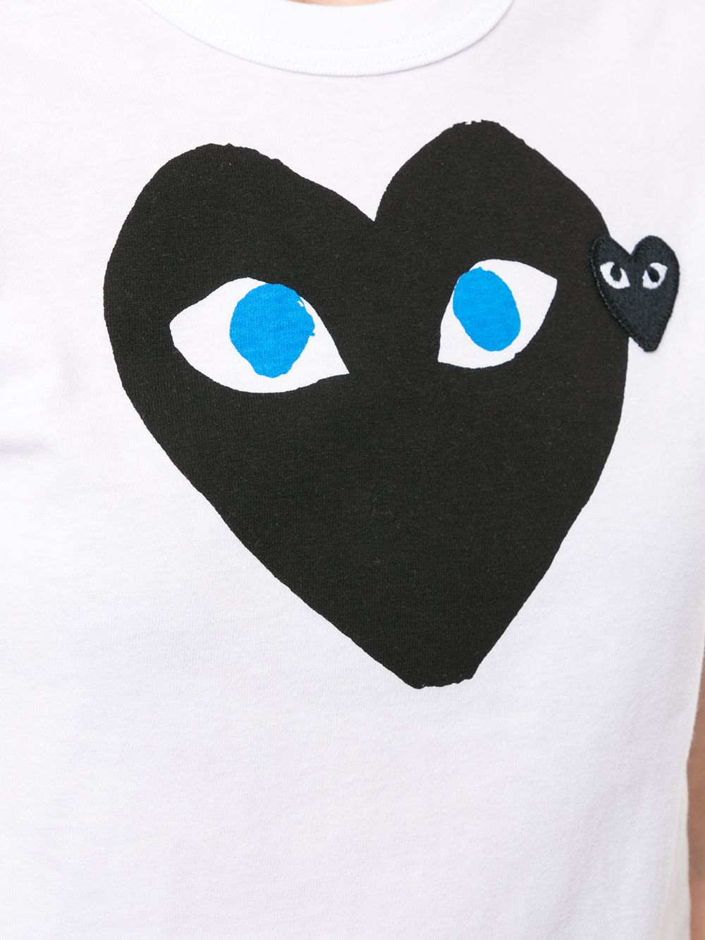 Picture of Comme Play | Hear Print Logo Patch T-Shirt