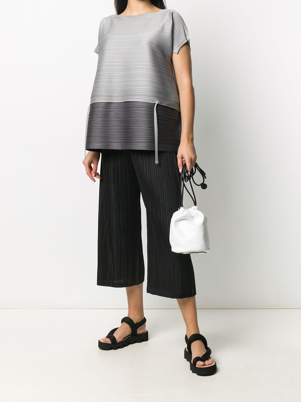 Picture of Issey Miyake Pleats Please | Cropped Micro-Pleated Trousers