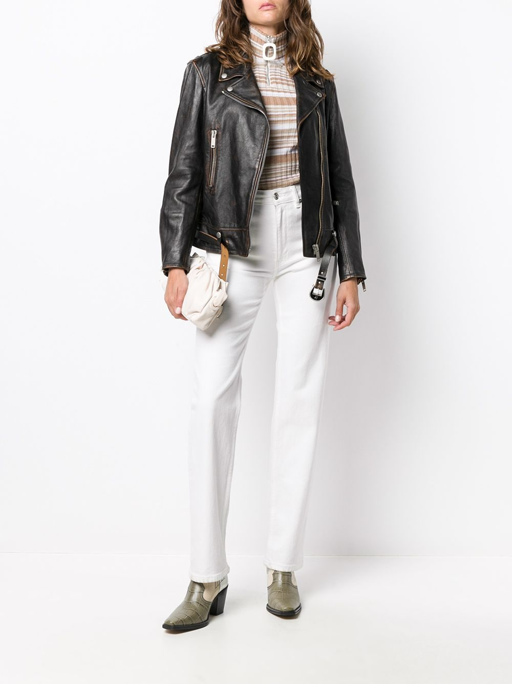 Picture of Golden Goose Deluxe Brand | Fitted Biker Jacket
