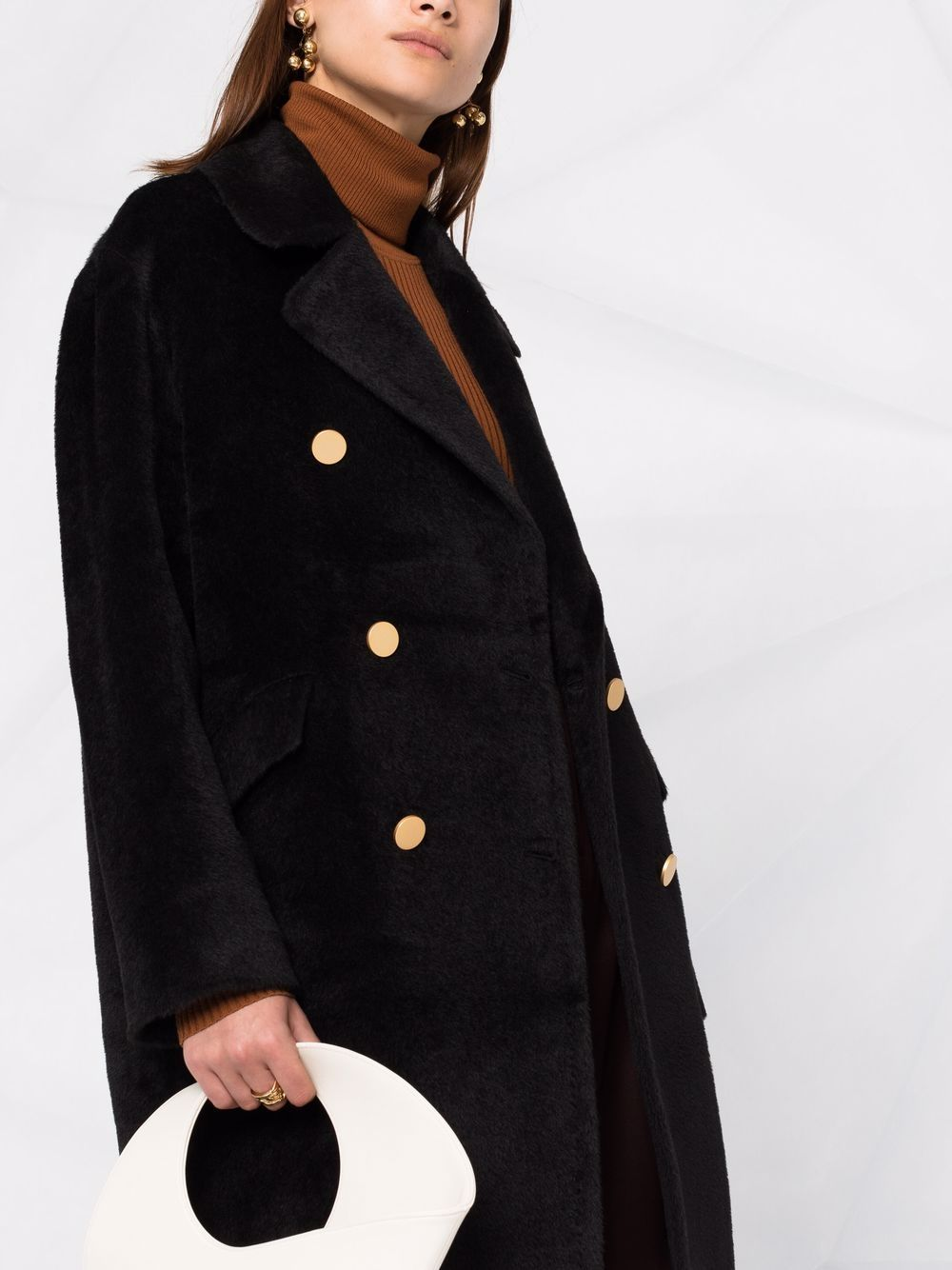 Picture of Tagliatore | Straight-Cut Double-Breasted Coat
