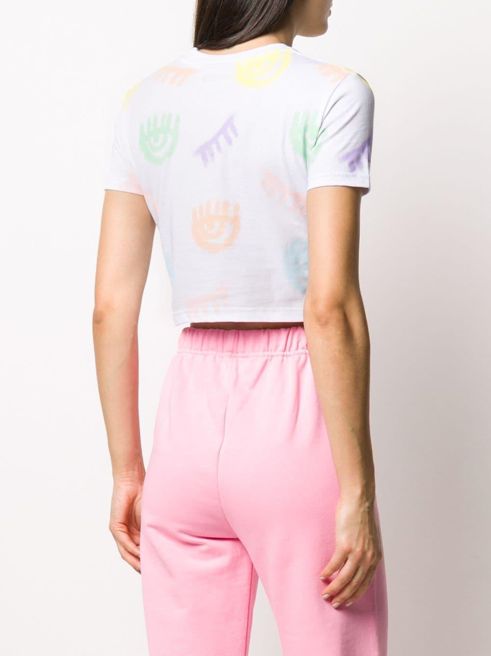 Picture of Chiara Ferragni | Eye Print Cropped T-Shirt