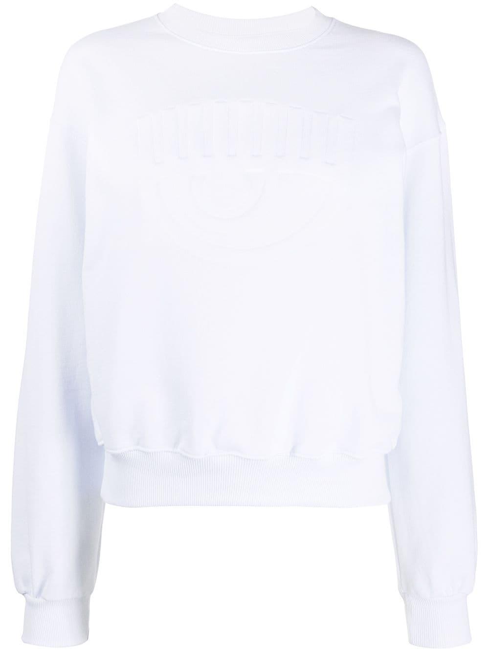 Picture of Chiara Ferragni   Tonal Logo Crewneck Sweatshirt