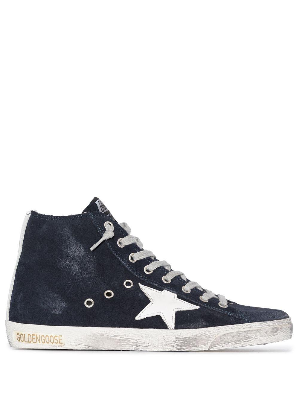 Picture of Golden Goose Deluxe Brand   Francy Suede High-Top Sneakers
