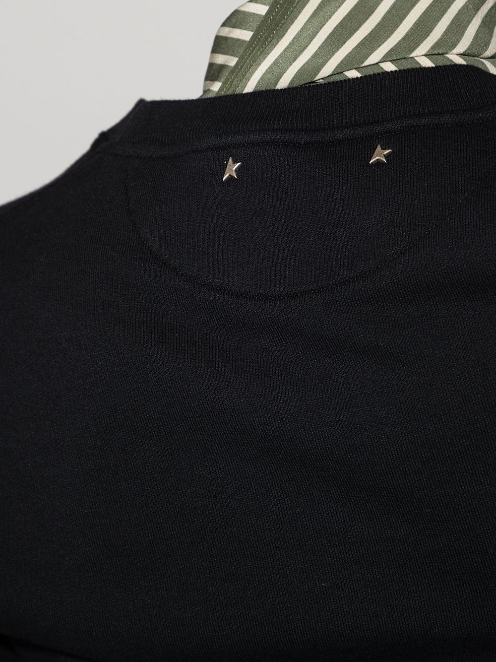 Picture of Golden Goose Deluxe Brand   Athena Logo-Print Sweatshirt
