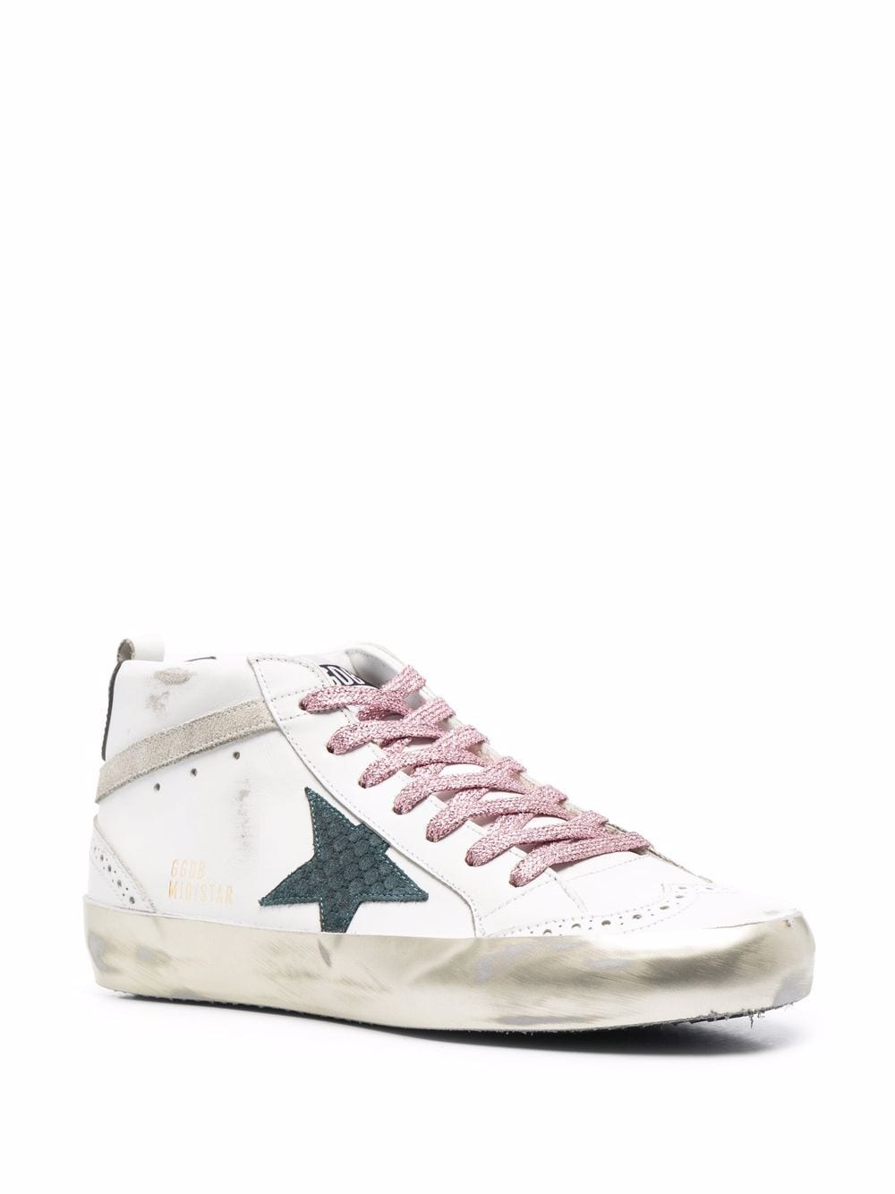 Picture of Golden Goose Deluxe Brand | Logo-Patch Lace-Up Sneakers