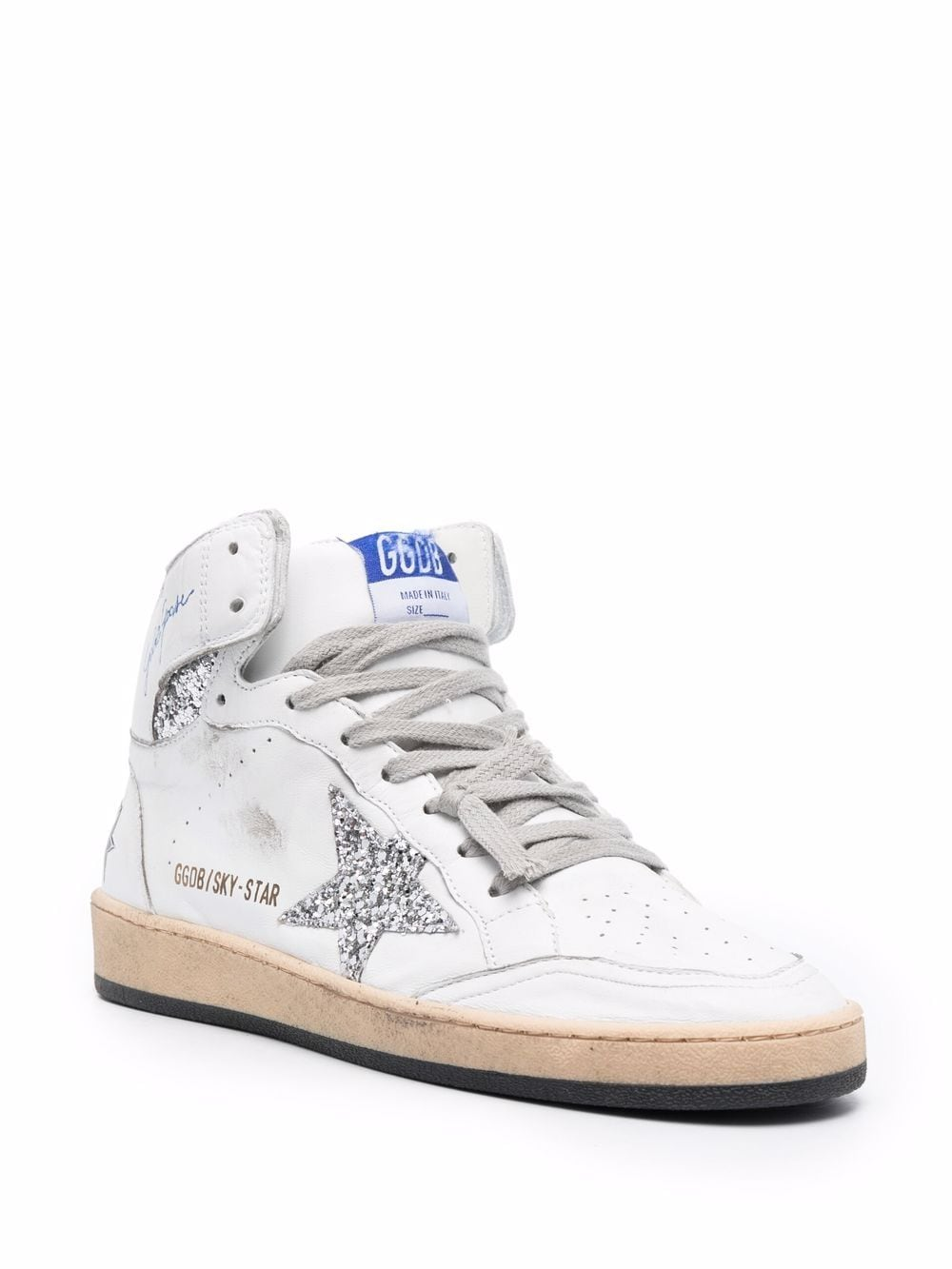 Picture of Golden Goose Deluxe Brand | Star-Patch Lace-Up Sneakrs