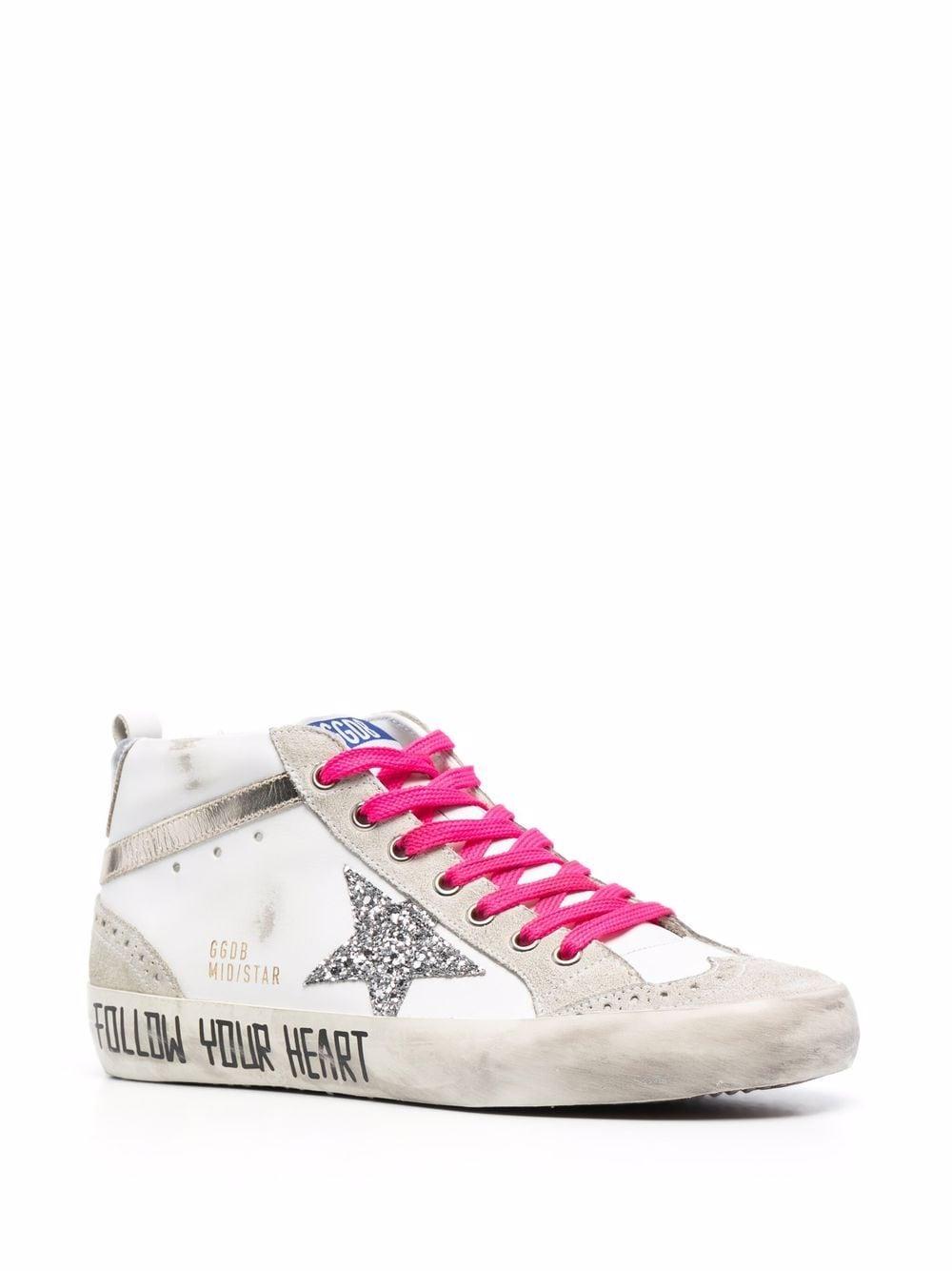 Picture of Golden Goose Deluxe Brand   Slogan-Print Mid-Star Sneakers