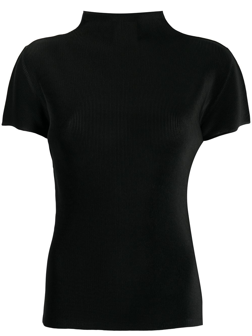 Picture of Issey Miyake Pleats Please | Mock Neck Pleated Top