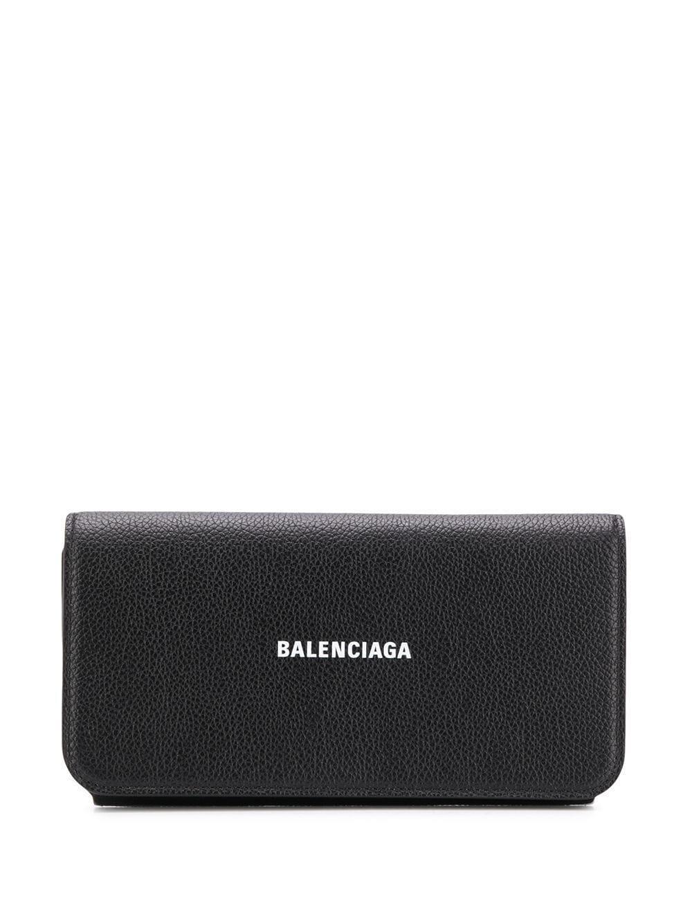 Picture of Balenciaga | Printed Logo Continental Wallet
