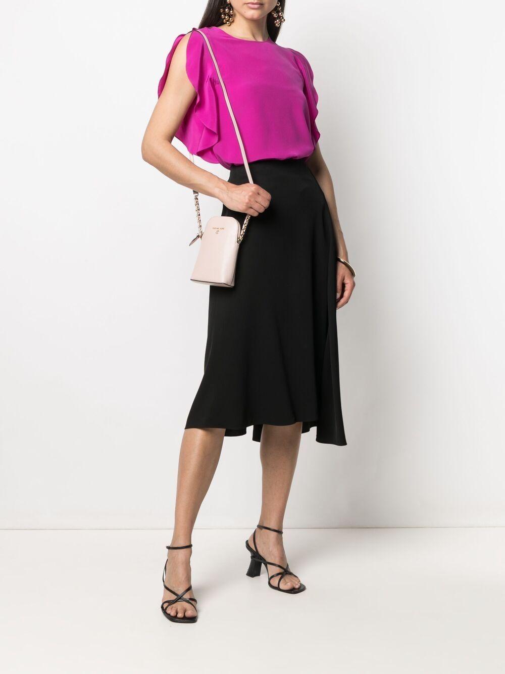 Picture of Aspesi | Slit Ruffled-Sleeve Silk Blouse