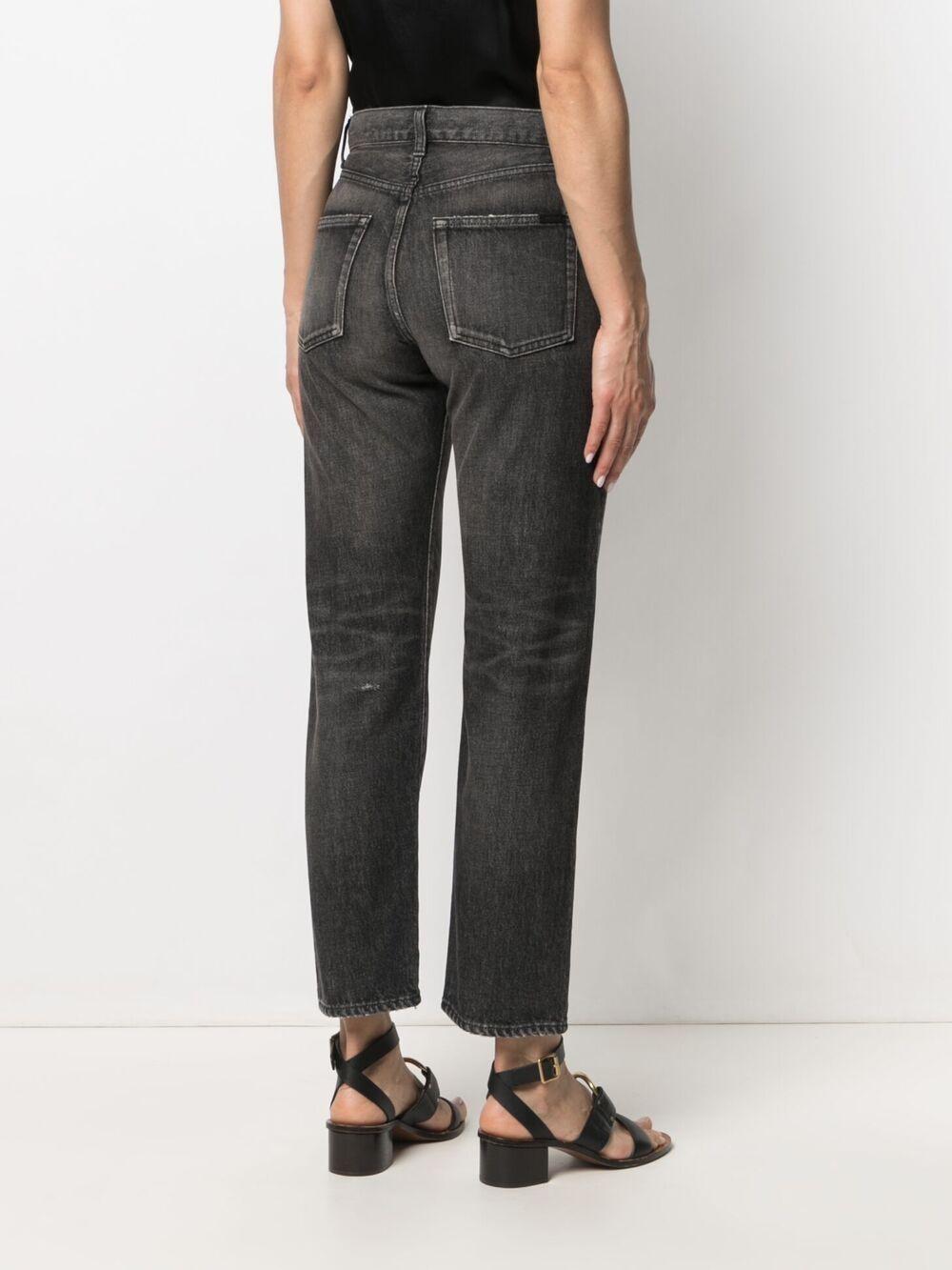 Picture of Saint Laurent | Straight-Leg Denim Jeans