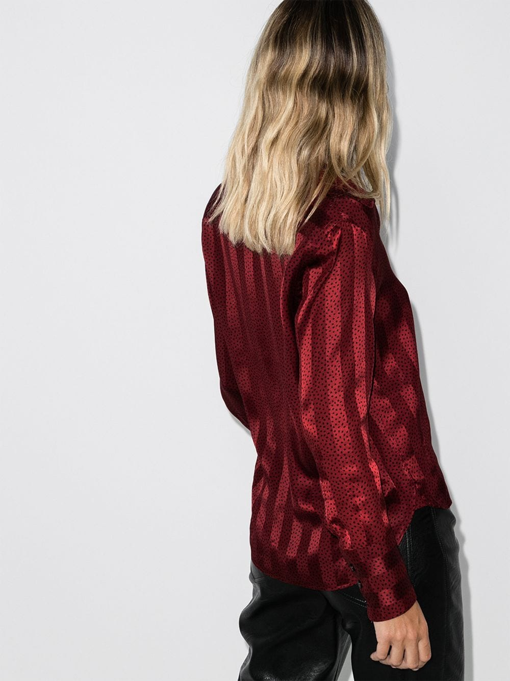 Picture of Saint Laurent | Brick Stripe-Print Shirt