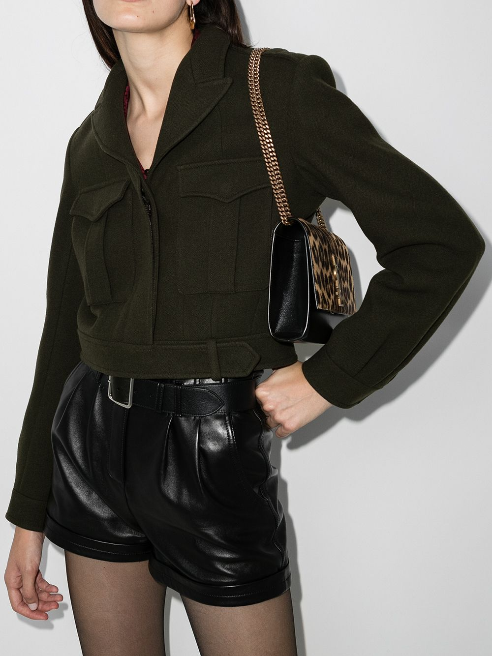 Picture of Saint Laurent | Cropped Military Jacket