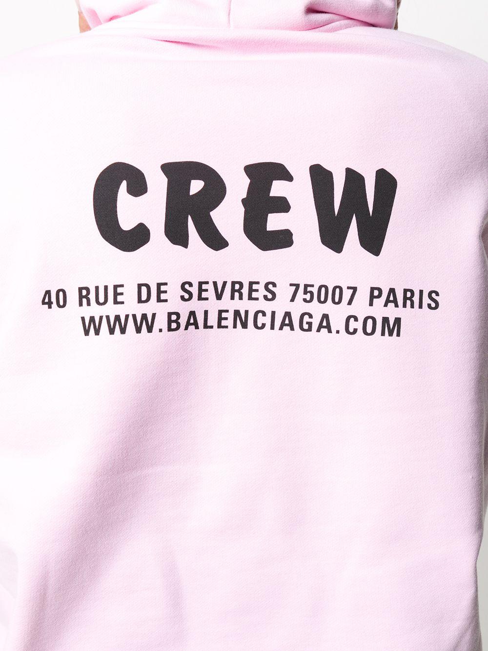 Picture of Balenciaga | Crew Print Oversized Hoodie