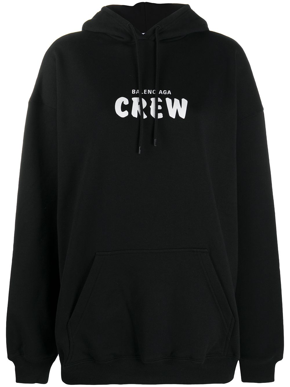 Picture of Balenciaga | Crew Print Oversized Hoodie