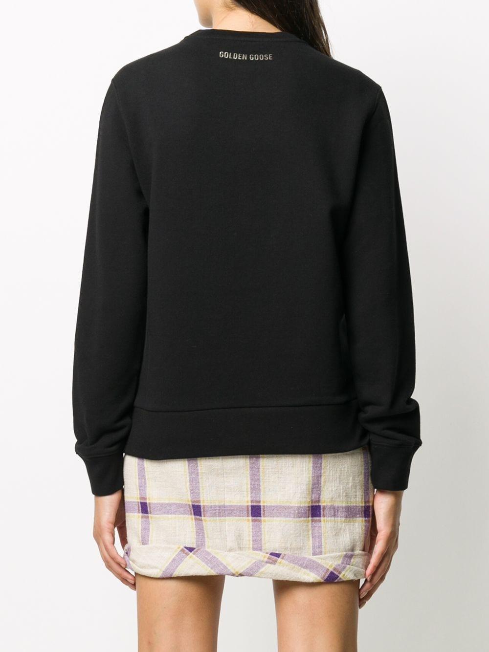 Picture of Golden Goose Deluxe Brand | Metallic-Star Cotton Sweatshirt