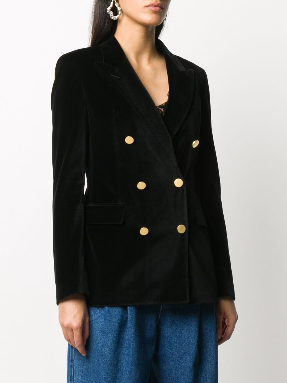 Picture of Tagliatore | Velvet Double-Breasted Jacket