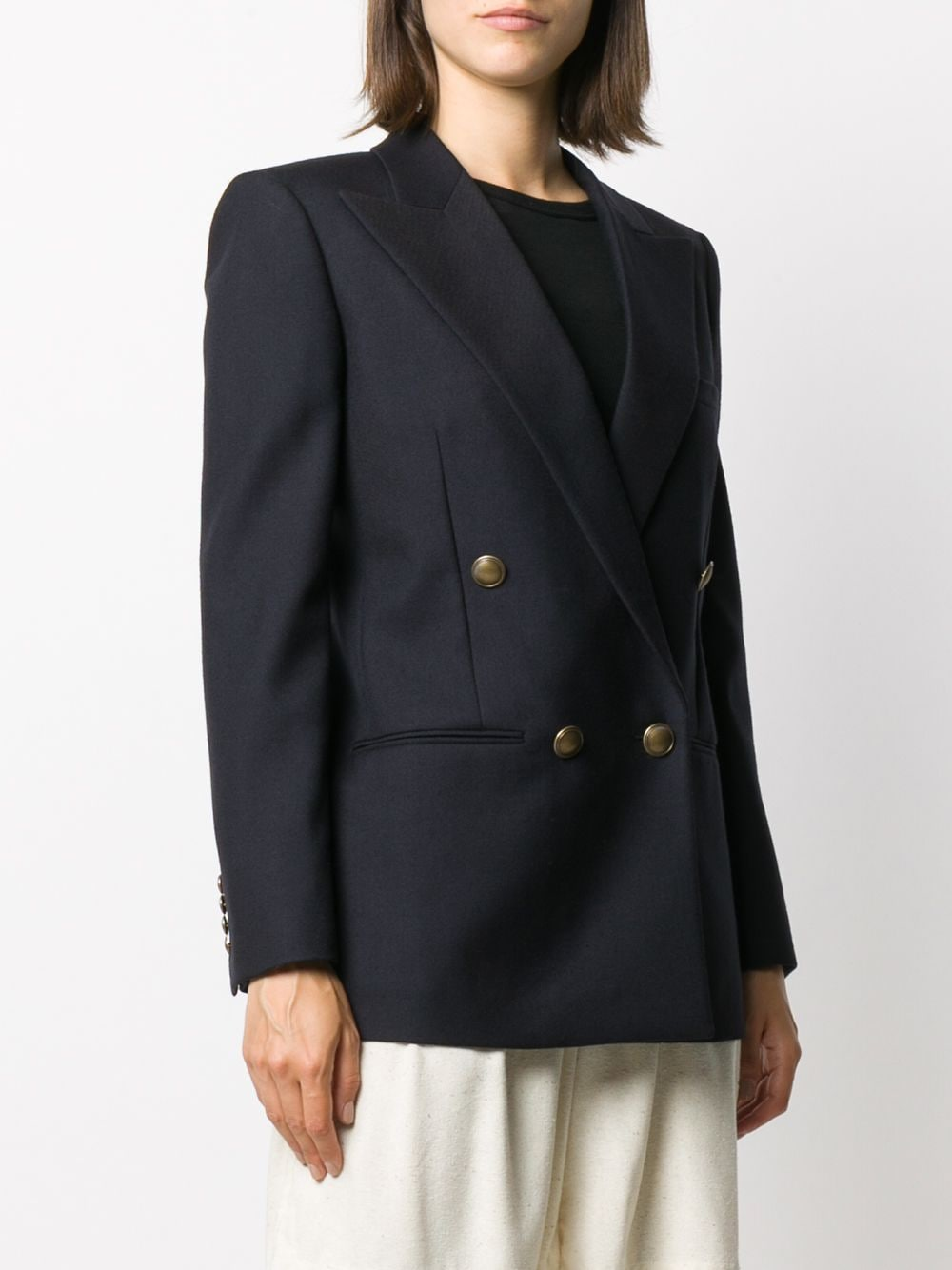 Picture of Saint Laurent | Double-Breasted Blazer