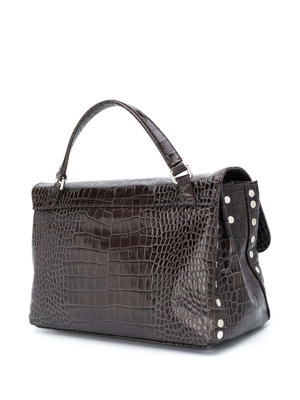 Picture of Zanellato | Croc-Embossed Leather Bag S