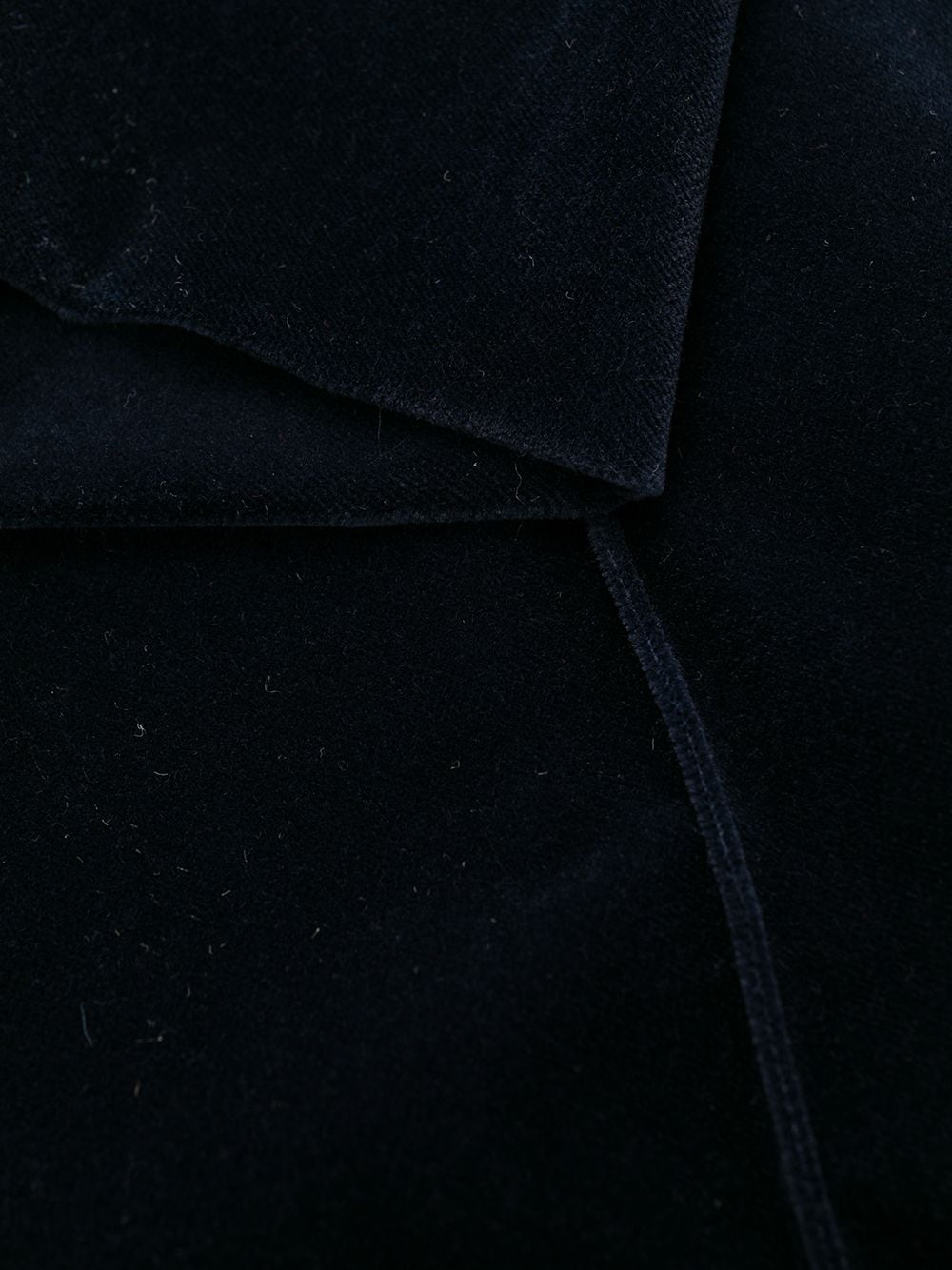 Picture of Saint Laurent | Velvet-Effect Flared Trousers