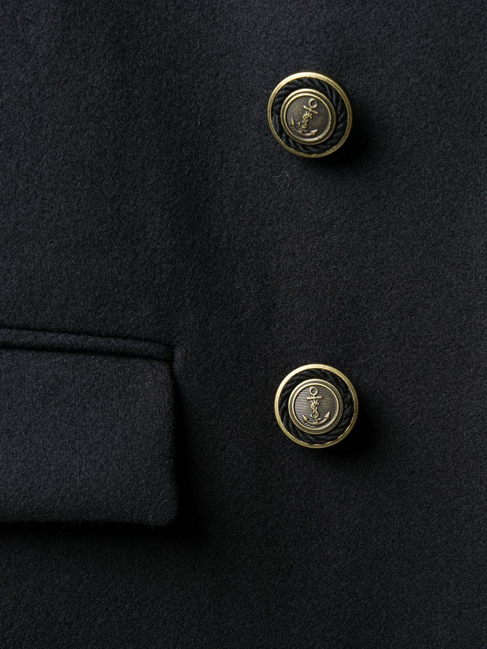 Picture of Saint Laurent | Double-Breasted Coat