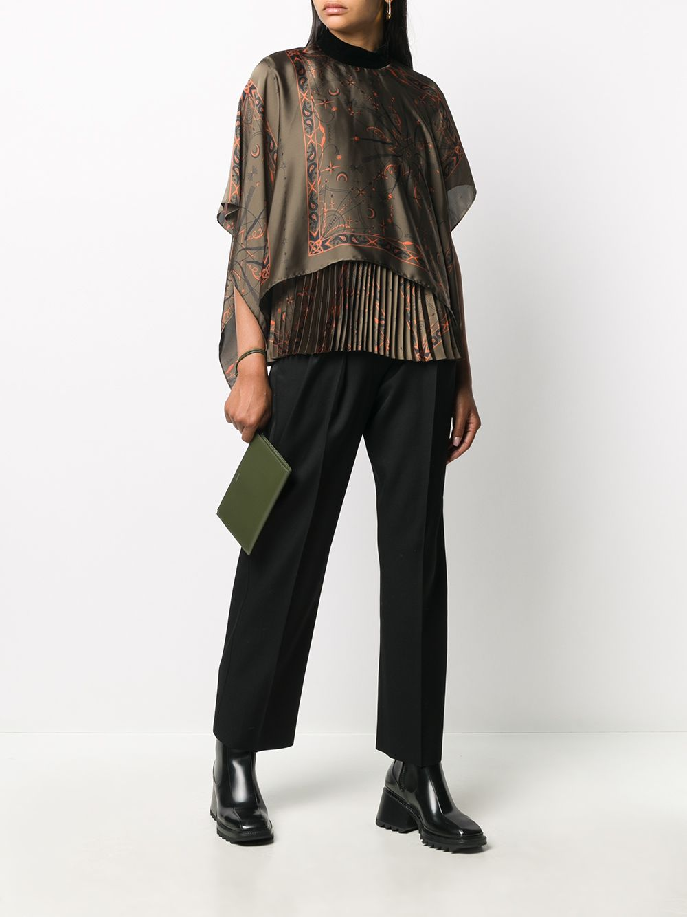 Picture of Sacai | Abstract Print Blouse