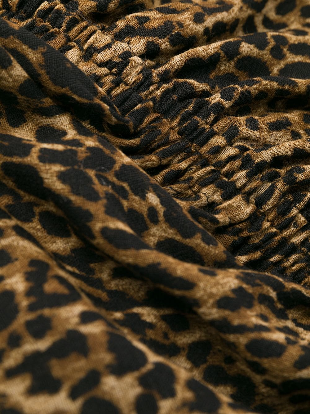 Picture of Saint Laurent | Leopard-Print Pleated Mini Dress