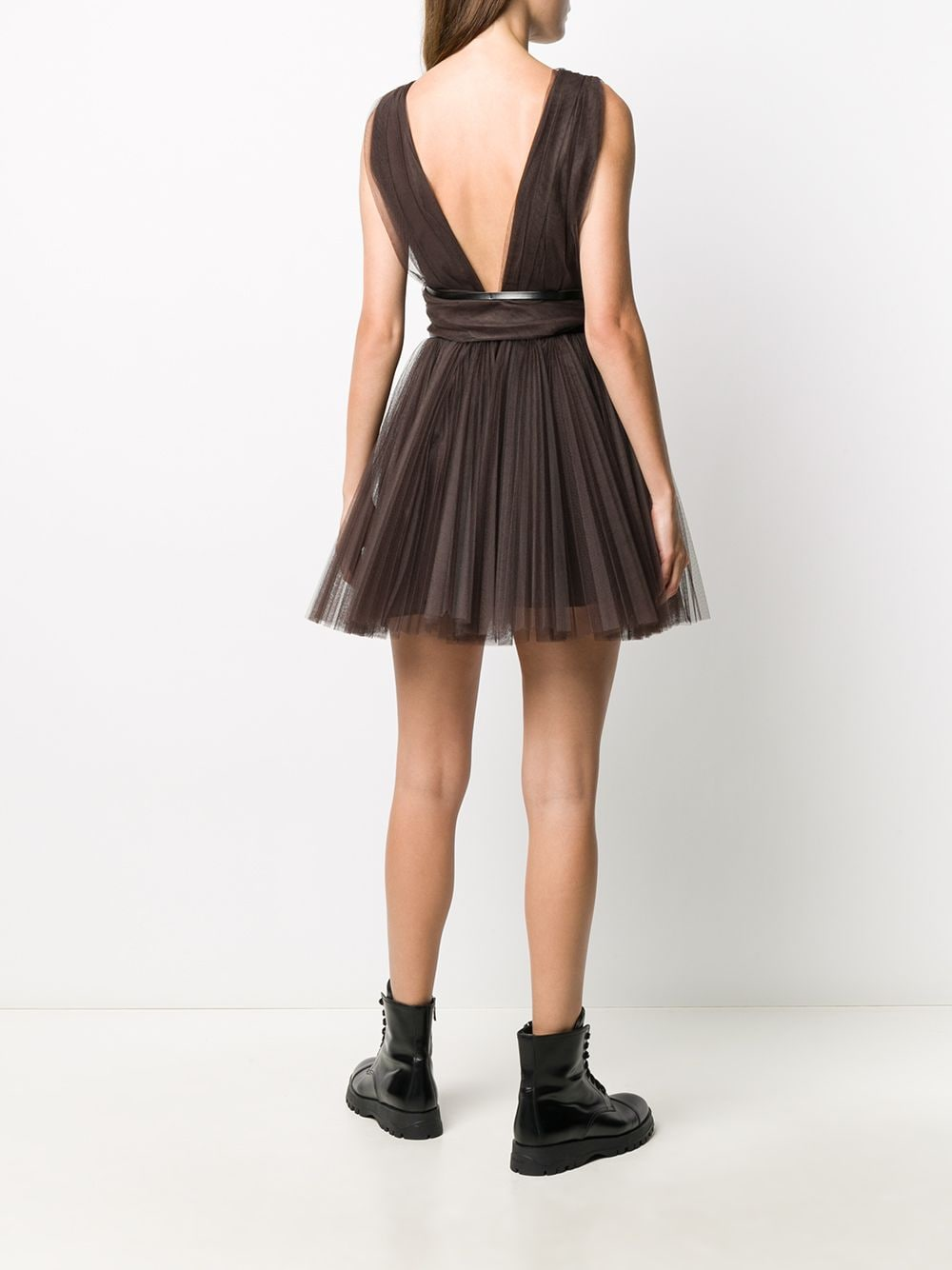 Picture of Brognano   Belted Tulle Dress