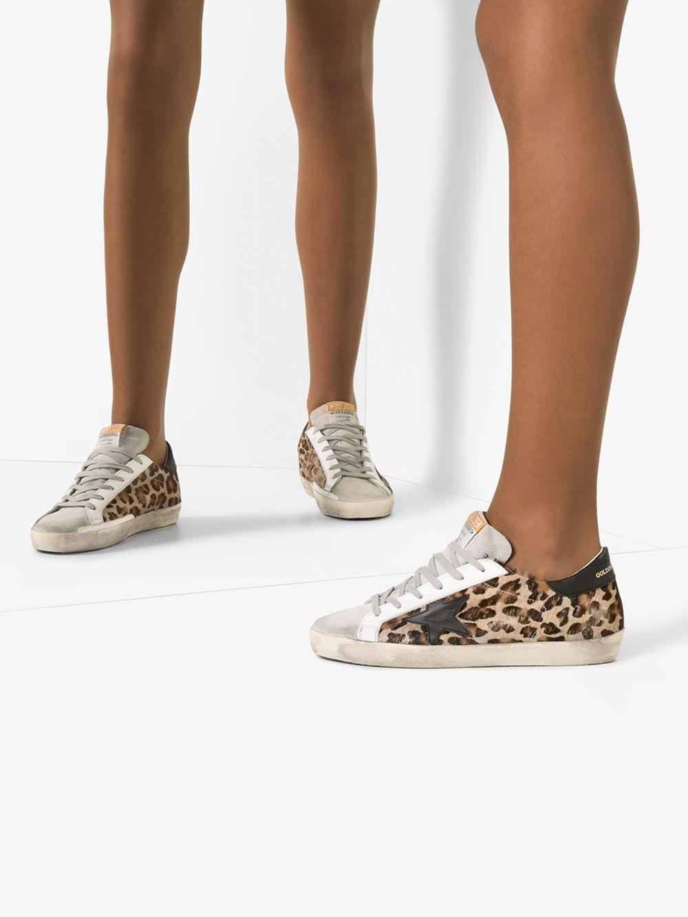 Picture of Golden Goose Deluxe Brand | Superstar Leopard Print Sneakers