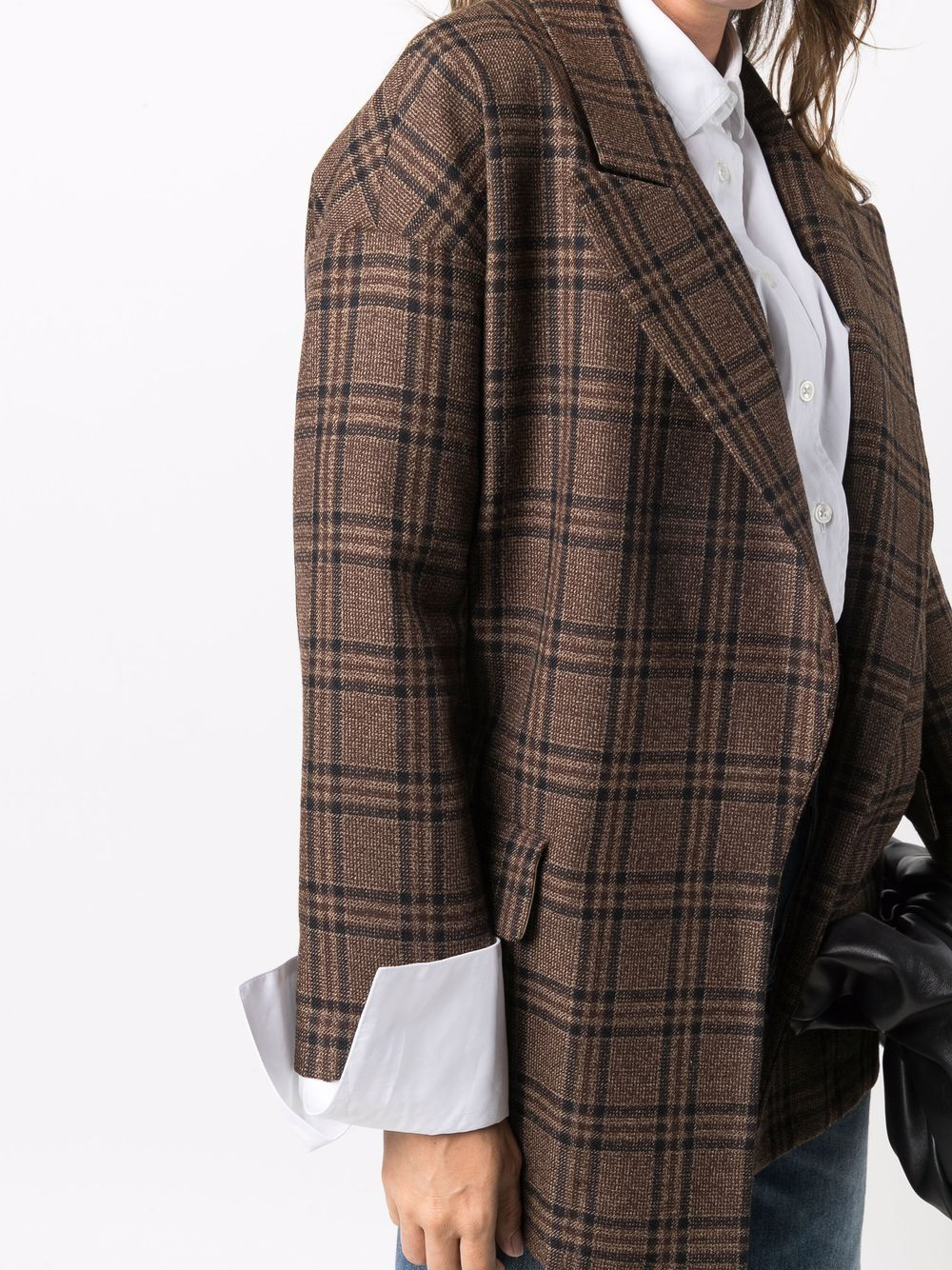 Picture of Jejia | Checked Wool Blazer