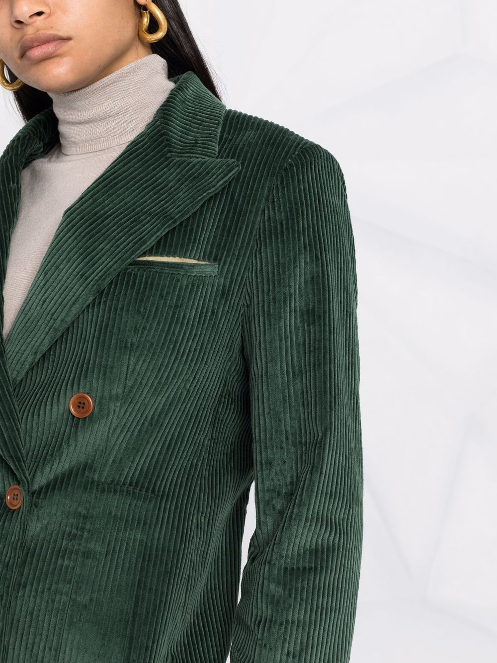 Picture of Jejia   Corduroy Double-Breasted Blazer