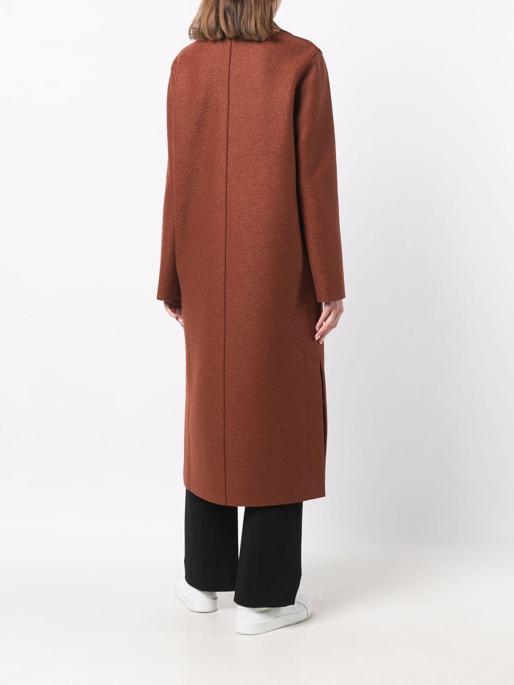 Picture of Harris Wharf London   Single-Breasted Virgin Wool-Felt Coat