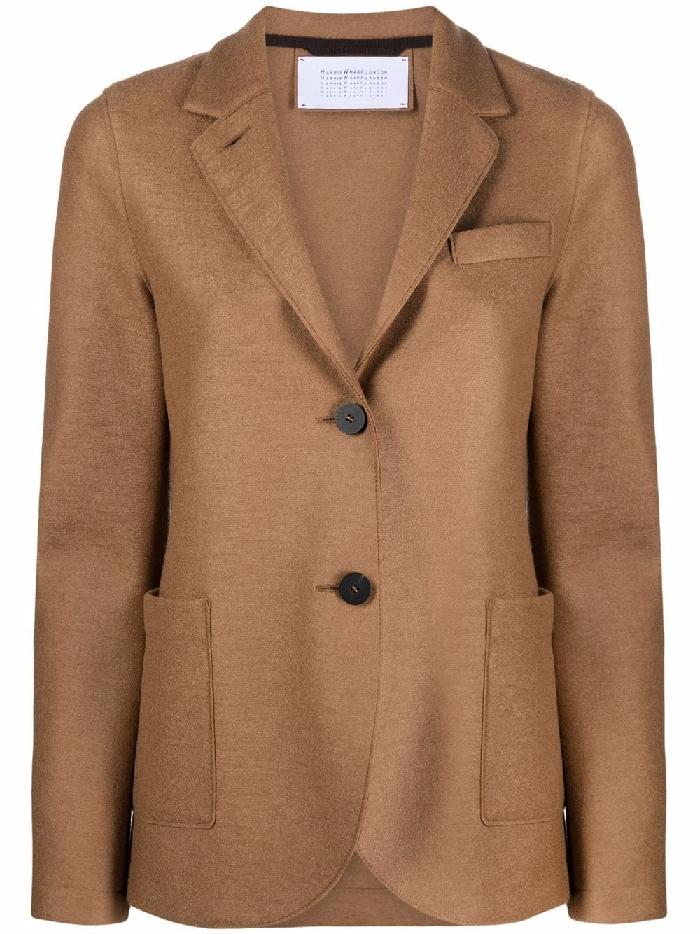 Picture of Harris Wharf London | Single-Breasted Wool Blazer