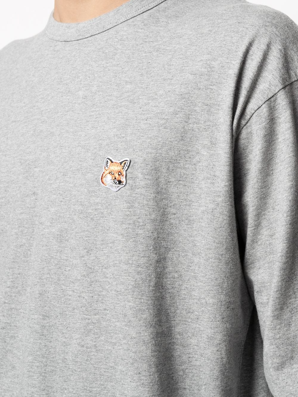 Picture of Maison Kitsune` | Logo Embroidered Crew-Neck Top