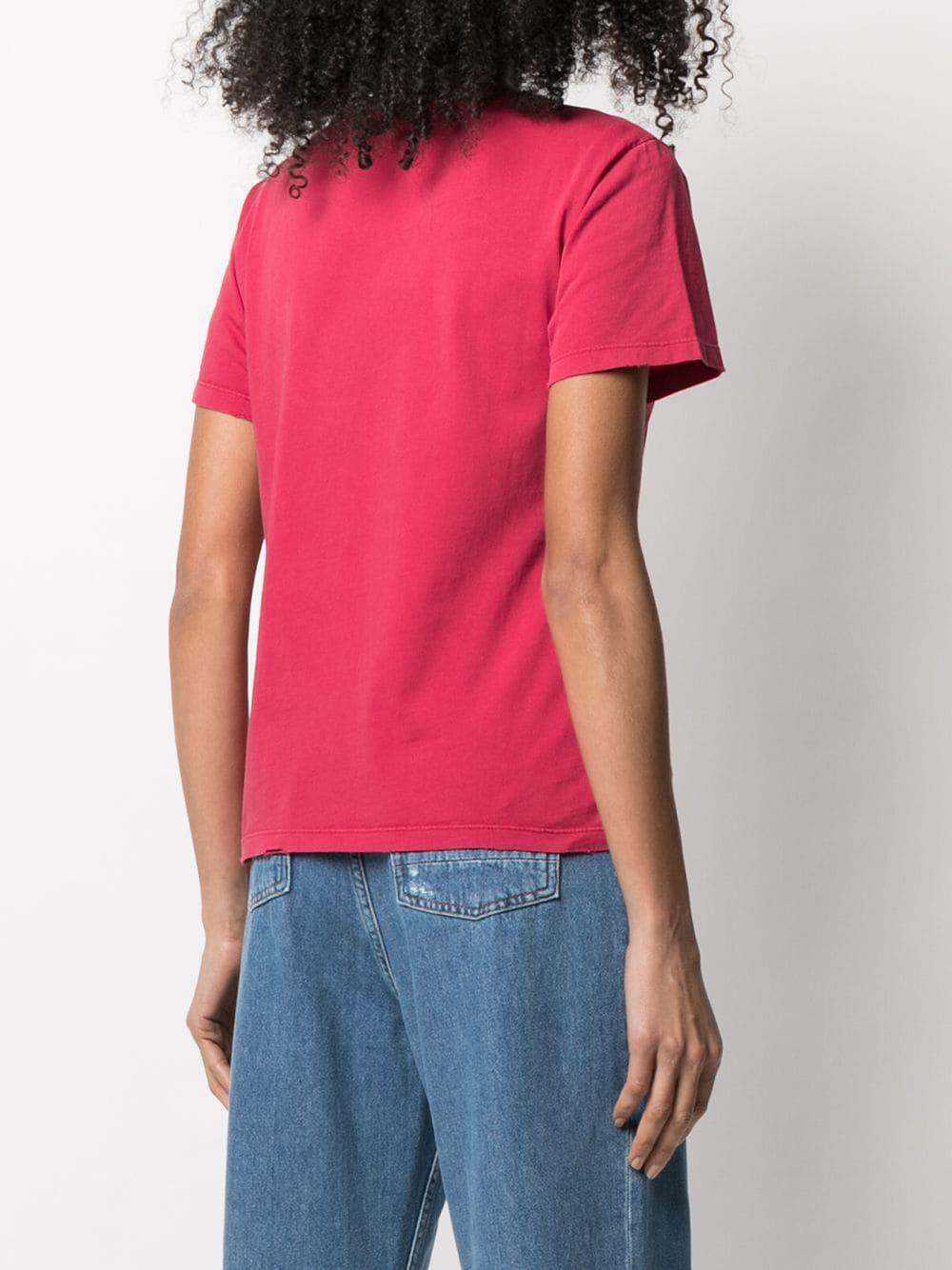 Picture of Golden Goose Deluxe Brand | Star-Motif Slogan-Print T-Shirt