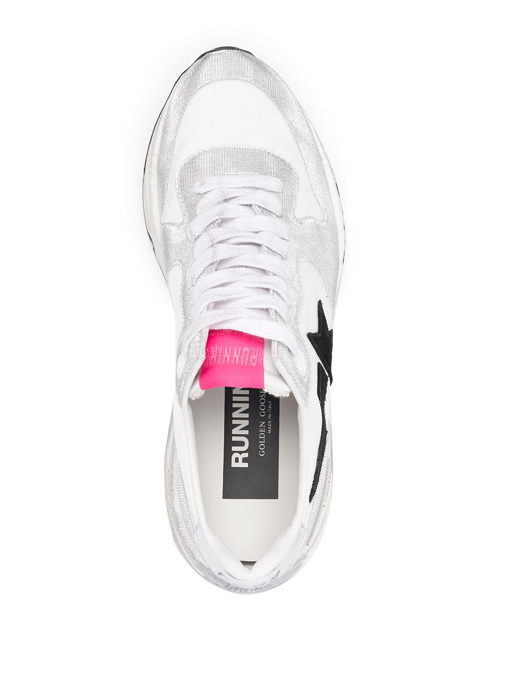 Picture of Golden Goose Deluxe Brand   Running Sole Leather Sneakers