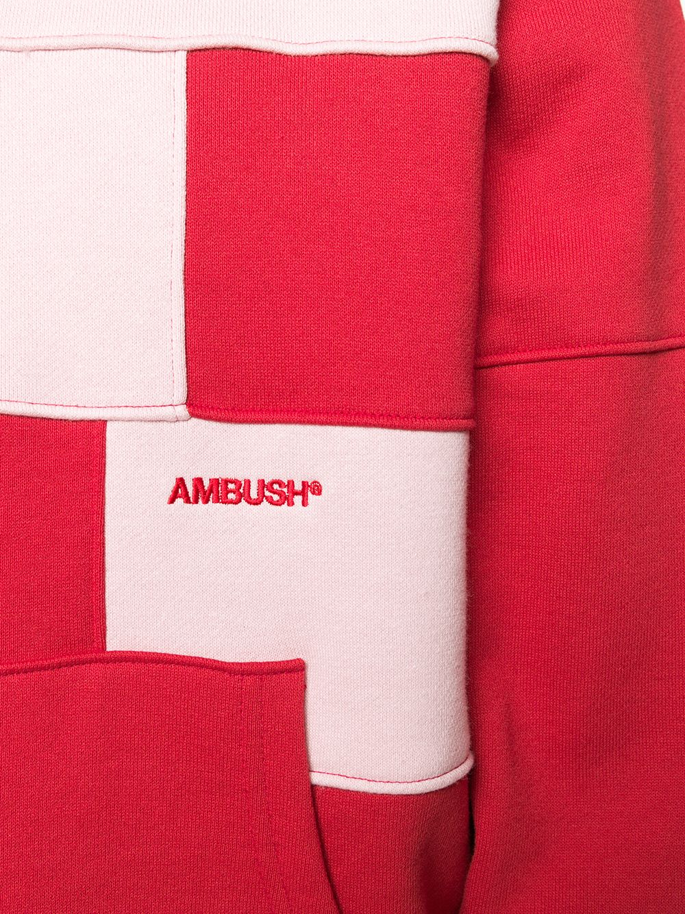 Picture of Ambush | Block Panelled Cotton Hoodie
