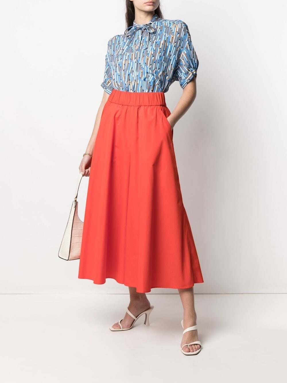 Picture of Aspesi | High-Waisted Wide-Leg Trousers