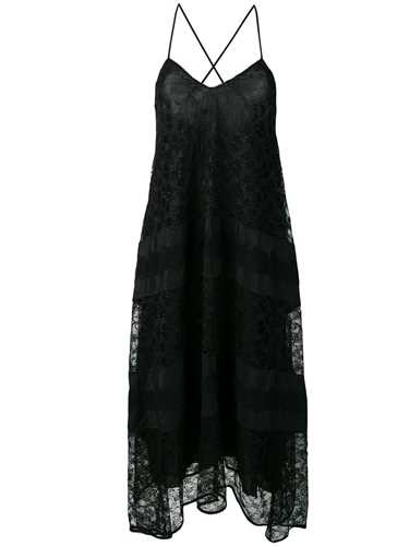 Picture of Ermanno Ermanno | Lace Panelled A-Line Dress