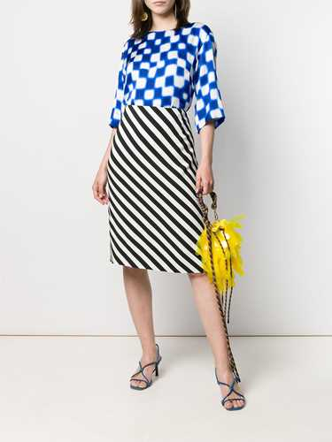 Picture of Dries Van Noten | Diagonal Striped Skirt
