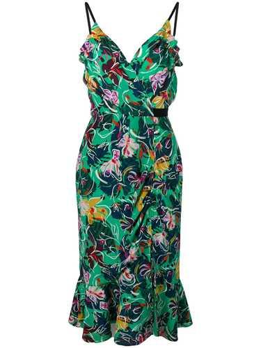 Picture of Saloni | Floral Print Peplum Dress