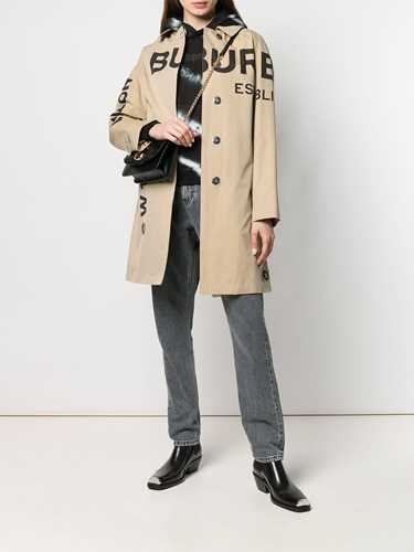 Picture of Burberry | Horseferry Logo Print Car Coat