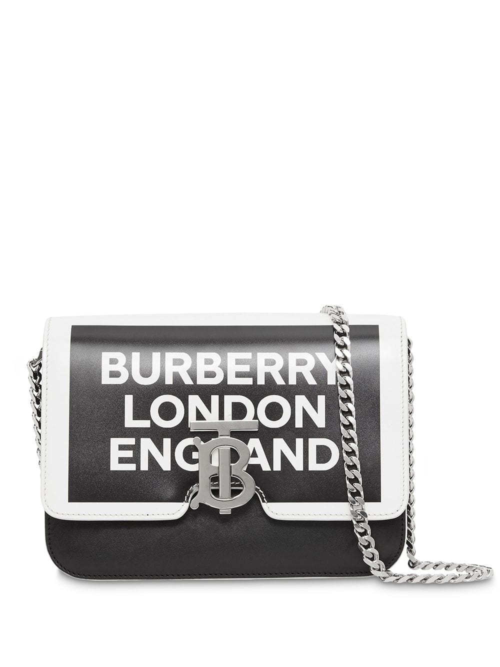 Picture of Burberry | Small Painted Edge Logo Print Leather Tb Bag