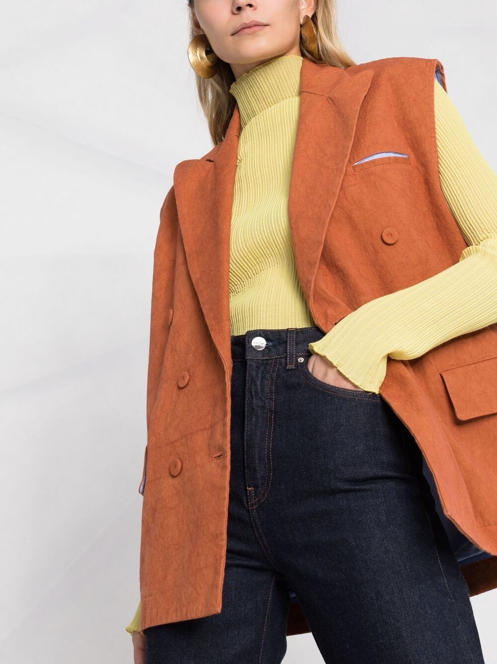 Picture of Jejia | Sleeveless Double-Breasted Blazer