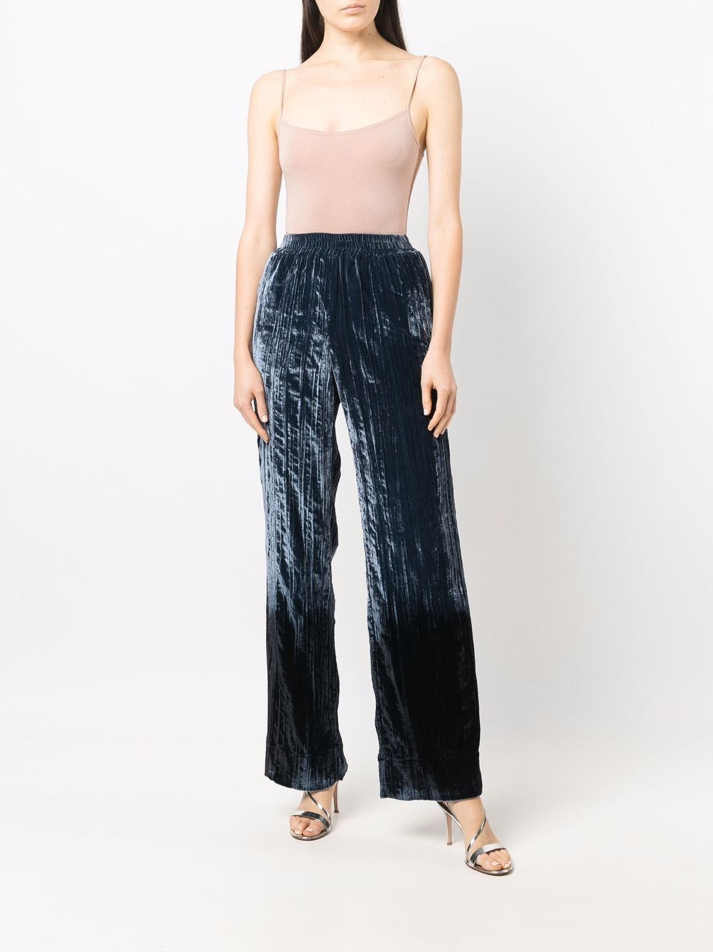 Picture of Golden Goose Deluxe Brand   Straight-Leg Velour Trousers
