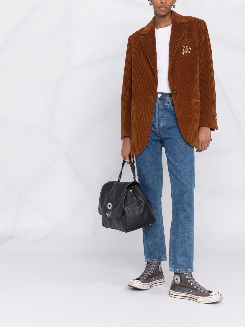 Picture of Golden Goose Deluxe Brand   Single-Breasted Corduroy Blazer
