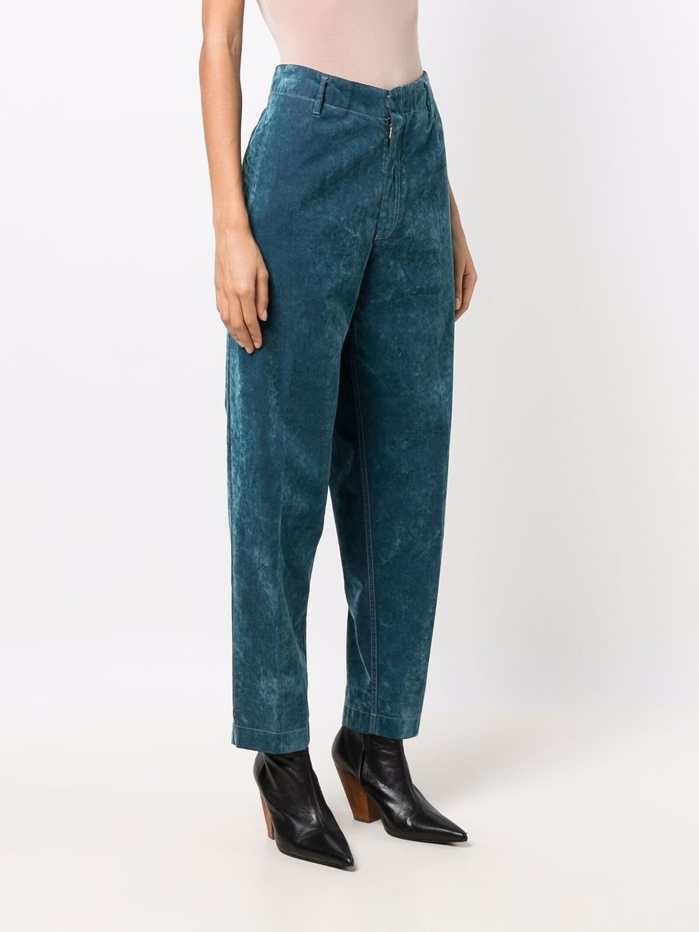 Picture of Forte_Forte   Slim-Cut Velour Trousers